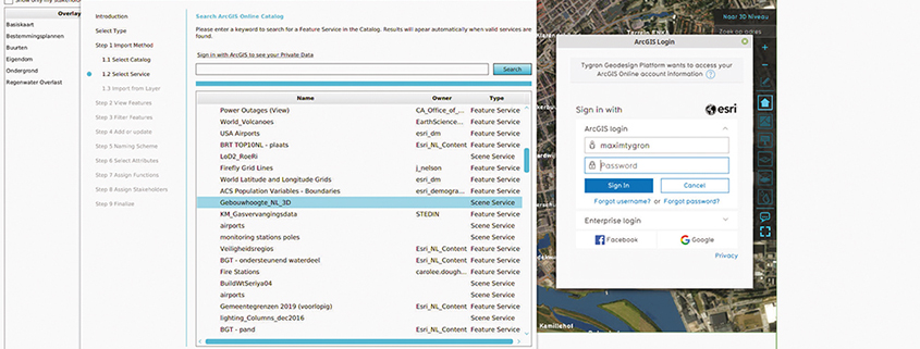 Live connection with ArcGIS Online and Enterprise